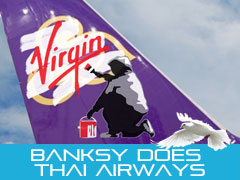 Banksy does Thai Airways