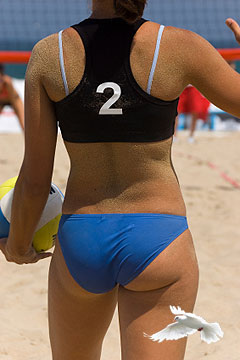 Worlds largest nude volleyball tournament