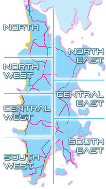 Area Map of Phuket